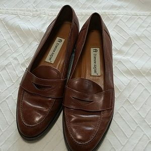 Etienne Aigner leather loafers shoes
